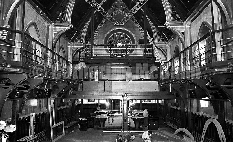 "1998:  The interior of the Limelight nightclub located in the former ""Episcopal Church of the Holy Communion"" on Sixth Avenue in New York City undergoing renovations."