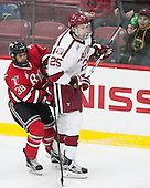 Alex Rodriguez (RPI - 39), Wiley Sherman (Harvard - 25) - The Harvard University Crimson defeated the visiting Rensselaer Polytechnic Institute Engineers 5-2 in game 1 of their ECAC quarterfinal series on Friday, March 11, 2016, at Bright-Landry Hockey Center in Boston, Massachusetts.