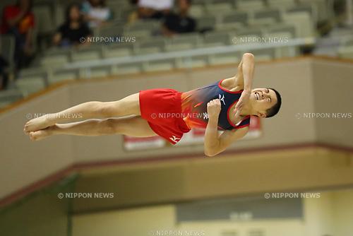 Masaharu Tanida (), <br /> AUGUST 21, 2017 - Artistic Gymnastics : <br /> 48th All Japan Junior High School Championships <br /> Men's Individual All-Around <br /> Floor Exercise <br /> at Kitakyushu City General Gymnasium, Fukuoka, Japan. <br /> (Photo by YUTAKA/AFLO)