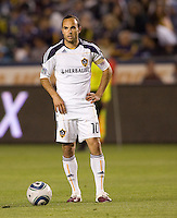 LA Galaxy forward Landon Donovan (10) prepares for a freekick . The LA Galaxy and Toronto FC played to a 0-0 draw at Home Depot Center stadium in Carson, California on Saturday May 15, 2010.  .