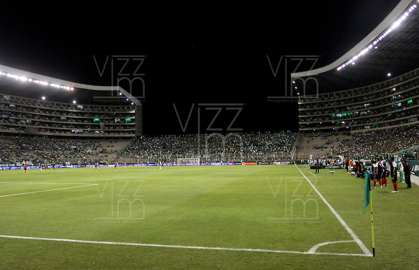 CALI -COLOMBIA-2-JUNIO-2016. Vista general del estadio del Deportivo Cali.Acción de juego entre el Cali y Medellín durante partido por los cuartos de final-cuartos ida  en el estadio del Deortivo Cali en Palmaseca./ General view of Deportivo Cali stadium. Actions game between Cali and  Medellin   during match quarterfinal-quarter leg at the Deportivo Cai stadium in Palmaseca. Photo: VizzorImage / Felipe Caicedo  / Staff