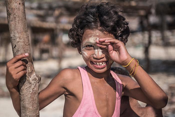 Portrait of a Burmese girl on the Dawei Peninsula, Tanintharyi Region, Myanmar (Burma)
