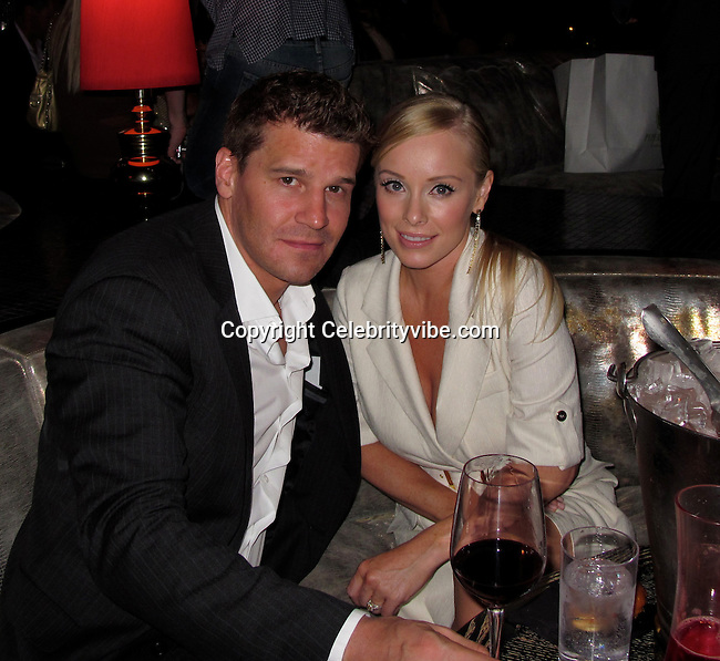 David Boreanaz and wife Jaime Bergman..Us Weekly Hot Hollywood Style Issue Party..Drai's Hollywood Nightclub..Hollywood, CA, USA..Thursday, April 22, 2010..Photo ByCelebrityVibe.com.To license this image please call (212) 410 5354; or Email:CelebrityVibe@gmail.com ;.website: www.CelebrityVibe.com.