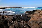Coastal landscape near Majanicho on north coast of Fuerteventura, Canary Islands, Spain