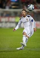 13 April 2011: Los Angeles Galaxy midfielder David Beckham #23 takes a free kick which hit the goal post during an MLS game between Los Angeles Galaxy and the Toronto FC at BMO Field in Toronto, Ontario Canada..The game ended in a 0-0 draw.