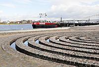 Nederland Nijmegen 2016. Kunstwerk Het Labyrinth aan de Waal.  Foto Berlinda van Dam / Hollandse Hoogte