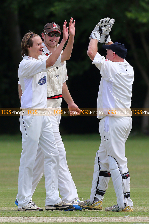 Hornchurch CC (fielding) vs Upminster CC - Essex Cricket League at Harrow Lodge, Hornchurch  - 30/05/15 - MANDATORY CREDIT: Gavin Ellis/TGSPHOTO - Self billing applies where appropriate - contact@tgsphoto.co.uk - NO UNPAID USE