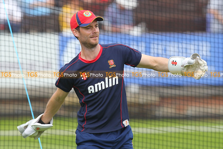James Foster of Essex is seen during the warm-up - Essex Eagles vs Scotland - Yorkshire Bank YB40 Cricket at the Essex County Ground, Chelmsford - 02/06/13 - MANDATORY CREDIT: Gavin Ellis/TGSPHOTO - Self billing applies where appropriate - 0845 094 6026 - contact@tgsphoto.co.uk - NO UNPAID USE