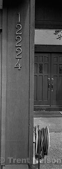 Front door of Nelson home<br />