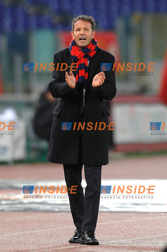 Bologna coach Sinisa Mihaijlovic<br /> L'allenatore del Bologna Sinisa Mihaijlovic<br /> Roma 17/12/2008 Stadio &quot;Olimpico&quot; <br /> Coppa Italia 2008/2009<br /> Roma Bologna (2-0)<br /> Foto Andrea Staccioli Insidefoto