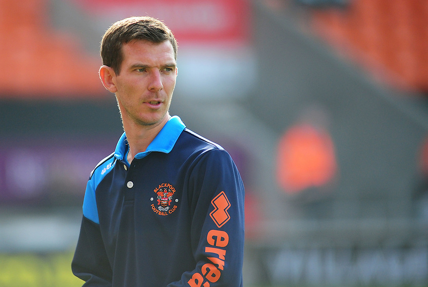 Blackpool First Team Coach Richie Kyle during the pre-match warm-up <br /> <br /> Photographer Kevin Barnes/CameraSport<br /> <br /> Football - The Football League Sky Bet League One - Blackpool v Swindon Town - Saturday 3rd October 2015 - Bloomfield Road - Blackpool<br /> <br /> &copy; CameraSport - 43 Linden Ave. Countesthorpe. Leicester. England. LE8 5PG - Tel: +44 (0) 116 277 4147 - admin@camerasport.com - www.camerasport.com