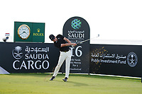 Marcus Kinhult (SWE) on the 16th during Round 3 of the Saudi International at the Royal Greens Golf and Country Club, King Abdullah Economic City, Saudi Arabia. 01/02/2020<br /> Picture: Golffile | Thos Caffrey<br /> <br /> <br /> All photo usage must carry mandatory copyright credit (© Golffile | Thos Caffrey)