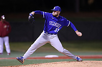 ELON, NC - FEBRUARY 28: Tyler Grauer #37 of Indiana State University throws a pitchTyler Grauer #37 during a game between Indiana State and Elon at Walter C. Latham Park on February 28, 2020 in Elon, North Carolina.