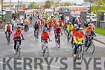 At the start of the Tralee to Killarney Stage of the Cycle against suicide at Mercy Mounthawk on Monday