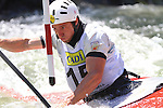 06.07.2013 La Seu D'Urgell, Spain. ICF Canoe Slalom World Cup. Picture show Jordi Domenjo (ESP) in action during canoe single C1 men Final at Parc Olimpic del Segre