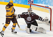 Hudson Fasching (MN - 24), Colin Stevens (Union - 30) - The Union College Dutchmen defeated the University of Minnesota Golden Gophers 7-4 to win the 2014 NCAA D1 men's national championship on Saturday, April 12, 2014, at the Wells Fargo Center in Philadelphia, Pennsylvania.