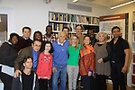 """Rehearsals for Ragtime starring One Life To Live Kerry Butler """"Claudia Reston"""" (green), Dick Latessa (Edge of Night) (blue), Matt Cavenaugh (also As The World Turns """"Adam Munson"""") (third left back), General Hospital Tyne Daly """"Caroline"""" (right), All My Children Norm Lewis """"Keith McLean"""" & now Scandal (plaid), As The World Turns Lea Salonga """"Lien Hughes"""" (multi), Young and the Restless Howard McGillan """"Snapper's brother - Greg Foster"""" (back R), Patina Miller (by Lewis), Jarrod Emick (L), Jose Llana (R) and Lilla Crawford (little) on February 11, 2013 for a concert at Avery Fisher Hall, New York City, New York on Monday February 18, 2013. (Photo by Sue Coflin/Max Photos)"""