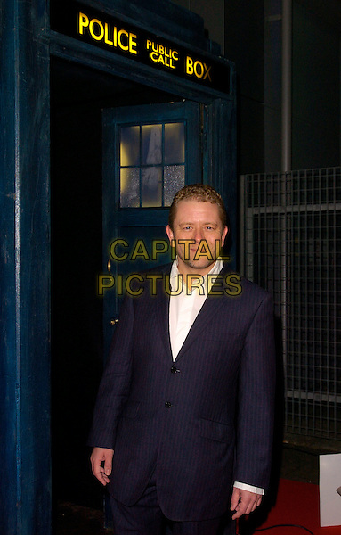 "JON CULSHAW.Attending the ""Doctor Who"" Christmas Special Gala Screening held at the Science Museum,.London, England, December 19th 2007..Dr Dr. half length Tardis.CAP/CAN.©Can Nguyen/Capital Pictures"