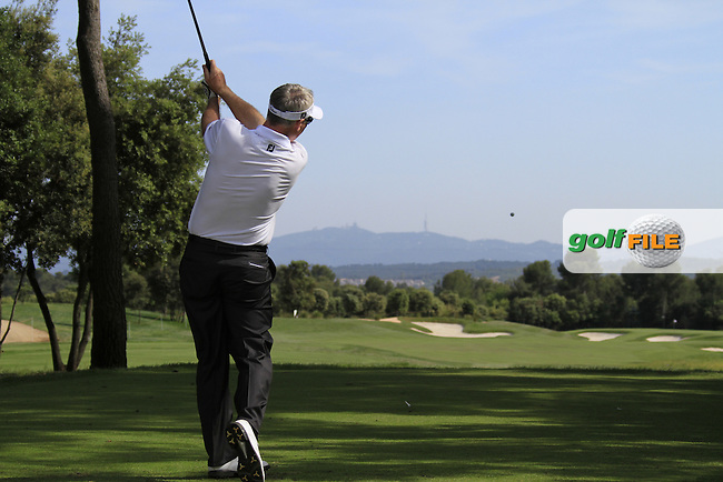 Phillip Price (WAL) in action on the 4th tee during Day 2 of the Open de Espana at Real Club De Golf El Prat, Terrasa, Barcelona, 6th May 2011. (Photo Eoin Clarke/Golffile 2011)