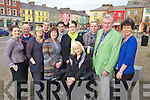 Members of Listowel Town Coucil and Listowel Traders Association pictured together last Tuesday on the square, l-r: Kelly Browne(Taelane), Clr Tim Buckley, Jennifer Scanlon(Coco Boutique, Clr Mike Kennelly, Ita Healy(Every Woman Boutique), Clr Jimmy Moloney, Lord Mayor Marie Gorman, Clr Tim O'Leary and Norma Mulane(Dress To Impress).