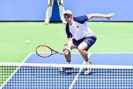 Washington, DC - August 6, 2017: John Peers (AUS) in action against Lukasz Kubot (POL) and Marcelo Melo (BRA) during the Citi Open Doubles Finals at Rock Creek Tennis Center, in Washington D.C. (Photo by Philip Peters/Media Images International)