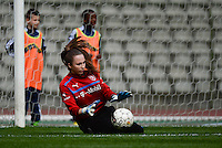 20140407 - BRUSSELS , BELGIUM : Czech Barbara Votikova pictured during the female soccer match between CZECH REPUBLIC U19 and BELGIUM U19 , in the second game of the Elite round in group 4 in the UEFA European Women's Under 19 competition 2014 in the Koning Boudewijn Stadion , Monday 7 April 2014 in Brussels . PHOTO DAVID CATRY