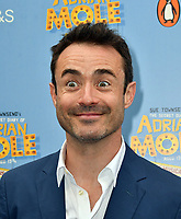 Joe McFadden attends The Secret Diary Of Adrian Mole Aged 13 ¾ musical adaptation of Sue Townsend's comic fiction which opens in Adrian's 50th birthday year and follows the daily dramas and misadventures of the teenager's adolescent life, at Ambassadors Theatre, London, England on July 02, 2019.<br /> CAP/JOR<br /> ©JOR/Capital Pictures