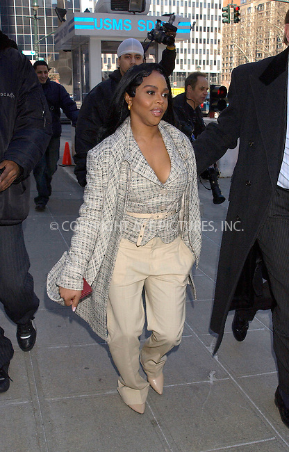 WWW.ACEPIXS.COM . . . . . ....NEW YORK, MARCH 16, 2005....Lil Kim enters the Federal Courthouse to defend charges related to her involvement in the 2001 shooting outside the Hot97 Radio Station.....Please byline: KRISTIN CALLAHAN - ACE PICTURES.. . . . . . ..Ace Pictures, Inc:  ..Philip Vaughan (646) 769-0430..e-mail: info@acepixs.com..web: http://www.acepixs.com
