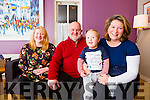 Sarah Kelleher who has reached the All Ireland Carer of the year final with her son Fionn and Kees and Sinead van Bladel