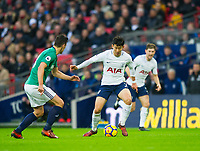 Tottenham's Heung-Min Son during the Premier League match between Tottenham Hotspur and West Bromwich Albion at Wembley Stadium, London, England on 25 November 2017. Photo by Andrew Aleksiejczuk / PRiME Media Images.