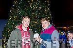 Kerry Minors Brian Sweeney and Nial Collins  officially switched on  the Christmas Lights in Listowel on Sunday