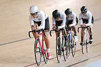 McKenzie Milne, Ally Wollaston, Eva Parkinson and Olivia King of Waikato BOP compete in the U17 Girls 3000m TP at the Age Group Track National Championships, Avantidrome, Home of Cycling, Cambridge, New Zealand, Sunday, March 19, 2017. Mandatory Credit: © Dianne Manson/CyclingNZ  **NO ARCHIVING**