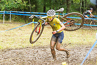 NWA Democrat-Gazette/BEN GOFF @NWABENGOFF<br /> Sarah Sturm of the United States competes in the UCI Elite Women event Sunday, Oct. 6, 2019, during the the Fayettecross cyclocross races at Centennial Park at Millsap Mountain in Fayetteville.
