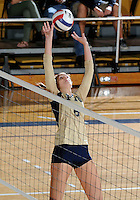 Florida International University women's volleyball player Jessica Egan (6) plays against Arkansas State University.  FIU won the match 3-2 on October 21, 2011 at Miami, Florida. .