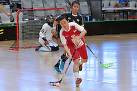 Singapore&rsquo;s Hui Hui Ong in action during the World Floorball Championships 2017 Qualification for Asia Oceania Region - Singapore v Thailand at ASB Sports Centre , Wellington, New Zealand on Sunday 5 February 2017.<br /> Photo by Masanori Udagawa<br /> www.photowellington.photoshelter.com.