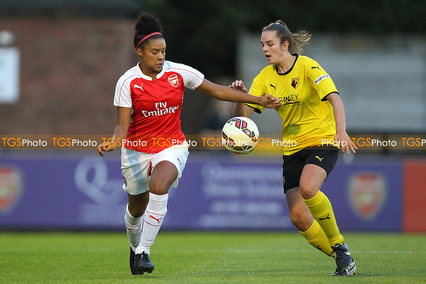 Chiara Ritchie-Williams of Arsenal in action during Arsenal Ladies vs Watford Ladies, FA Womens Super League Continental Tyres Cup Football at Boreham Wood FC, Meadow Park, Broughinge Rd, Borehamwood, Hertfordshire on 23/07/2015 - MANDATORY CREDIT: Gavin Ellis/TGSPHOTO