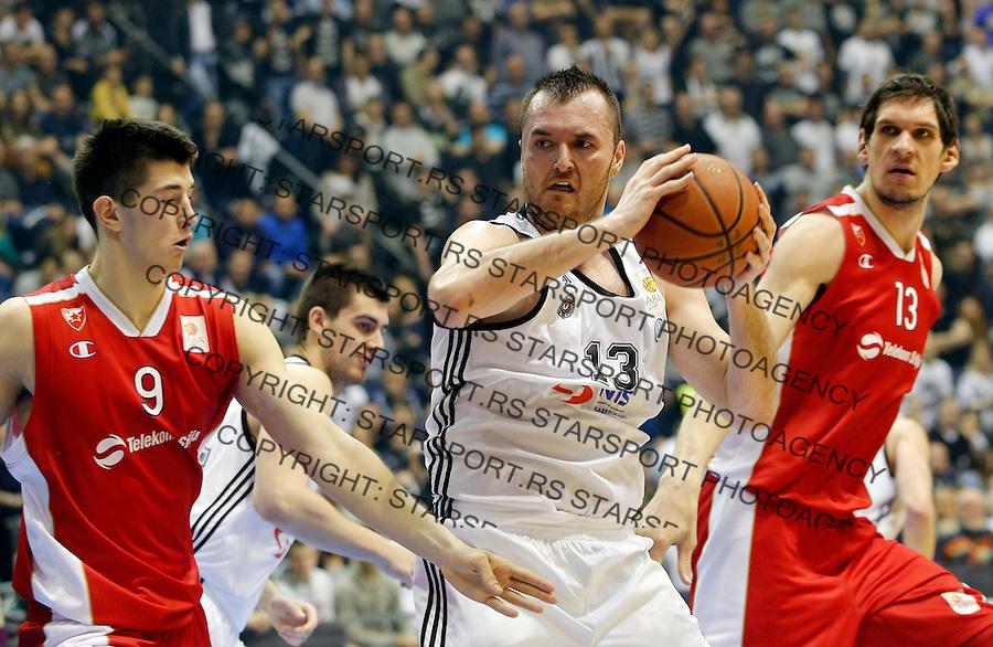 Boban Marjanovic Aba Jadranska Regionalna liga, derbi, Partizan - Crvena Zvezda, 23. kolo Beograd, Srbija, 1.3.2015.  (credit image & photo: Pedja Milosavljevic / STARSPORT).