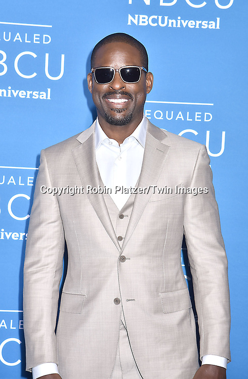 Sterling K Brown of &quot;This Is Us&quot; attends the NBCUNIVERSAL 2017 UPFRONT on May 15, 2017 at Radio City Music Hall in New York, New York, USA.<br /> <br /> photo by Robin Platzer/Twin Images<br />  <br /> phone number 212-935-0770