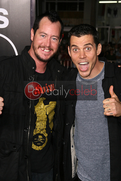 Ehren McGhehey, Steve O<br /> at the premiere of &quot;Jackass 3D,&quot; Chinese Theater, Hollywood, CA. 10-13-10<br /> Dave Edwards/DailyCeleb.com 818-249-4998