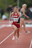 1 April 2006: Laura Thom during Stanford's Track & Field Invitational at Cobb Track & Angell Field in Stanford, CA.