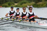 Race: 133  4x- (Band 1)  Final<br /> <br /> Peterborough Summer Regatta 2018 - Saturday<br /> <br /> To purchase this photo, or to see pricing information for Prints and Downloads, click the blue 'Add to Cart' button at the top-right of the page.