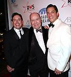 Matt Lenz, Jack O'Brien & Nicholas Rodriguez attending the Broadway Dreams Foundation's 'Champagne & Caroling Gala' at Celsius at Bryant Park, New York on December 10, 2012