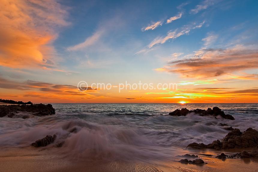 Sunrise on the beach near The Westin, Los Cabos near Cabo San Lucas, Mexico