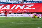 Robin Quaison (FSV Mainz 05 #07) Jiri Pavlenka (Werder Bremen #01)<br /> <br /> <br /> Sport: nphgm001: Fussball: 1. Bundesliga: Saison 19/20: 33. Spieltag: 1. FSV Mainz 05 vs SV Werder Bremen 20.06.2020<br /> <br /> Foto: gumzmedia/nordphoto/POOL <br /> <br /> DFL regulations prohibit any use of photographs as image sequences and/or quasi-video.<br /> EDITORIAL USE ONLY<br /> National and international News-Agencies OUT.