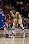 Madison Jones (1) of the Wake Forest Demon Deacons on offense during first half action against the UNC Asheville Bulldogs at the LJVM Coliseum on November 14, 2014 in Winston-Salem, North Carolina.  The Demon Deacons defeated the Bulldogs 80-69  (Brian Westerholt/Sports On Film)
