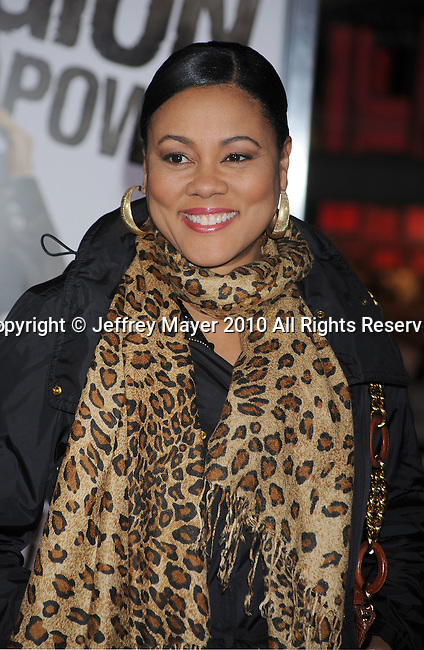 """HOLLYWOOD, CA. - January 11: Lela Rochon attends the """"The Book Of Eli"""" Los Angeles Premiere at Grauman's Chinese Theatre on January 11, 2010 in Hollywood, California."""