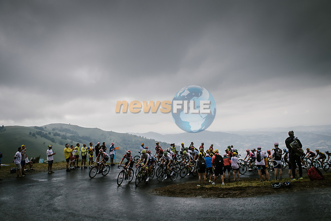 Riders climb Prat d'Albis during Stage 15 of the 2019 Tour de France running 185km from Limoux to Foix Prat d'Albis, France. 20th July 2019.<br /> Picture: ASO/Pauline Ballet | Cyclefile<br /> All photos usage must carry mandatory copyright credit (© Cyclefile | ASO/Pauline Ballet)