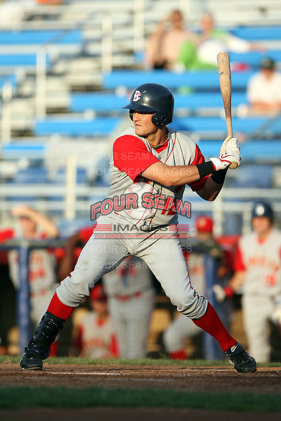 July 11th 2008:  First round draft pick Reese Havens (12) of the Brooklyn Cyclones, Class-A affiliate of the NY Mets, during a game at Russell Diethrick Park in Jamestown, NY.  Photo by:  Mike Janes/Four Seam Images