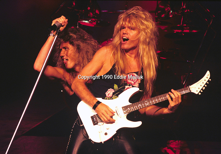 David Coverdale and Adrian Vandenberg of Whitesnake performs at UNO in New Orleans Louisiana, USA