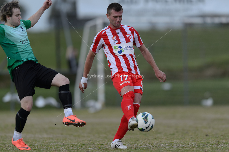LANGWARRIN - 16 September: A player trialling for the Heart at a pre-season match between Melbourne Heart and Peninsula XI at Lawton Reserve on 16 September 2012. (Photo by Sydney Low / syd-low.com)
